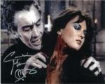Caroline Munro signed 10 by 8 star of Dracula, Sinbad, Bond #12